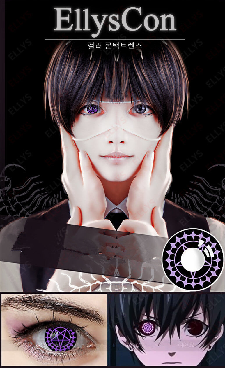 COSplay Contract eye purple(Two piece)YC20044