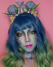 Lolita blue green gradient wig     YC21493