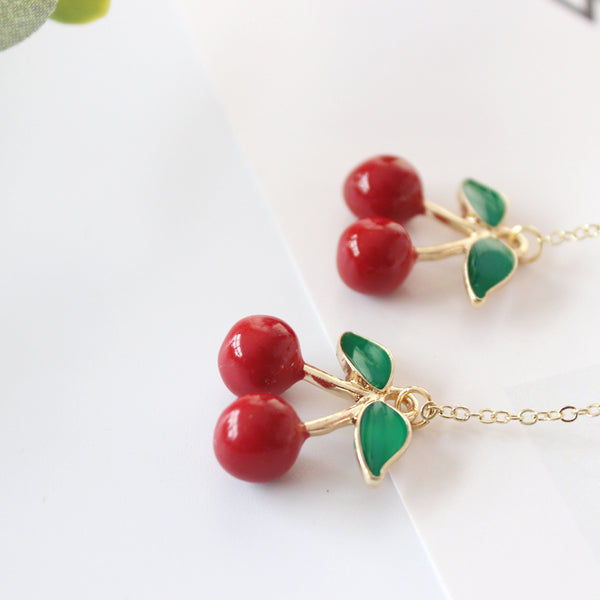 Cherry fruit earrings yc21067