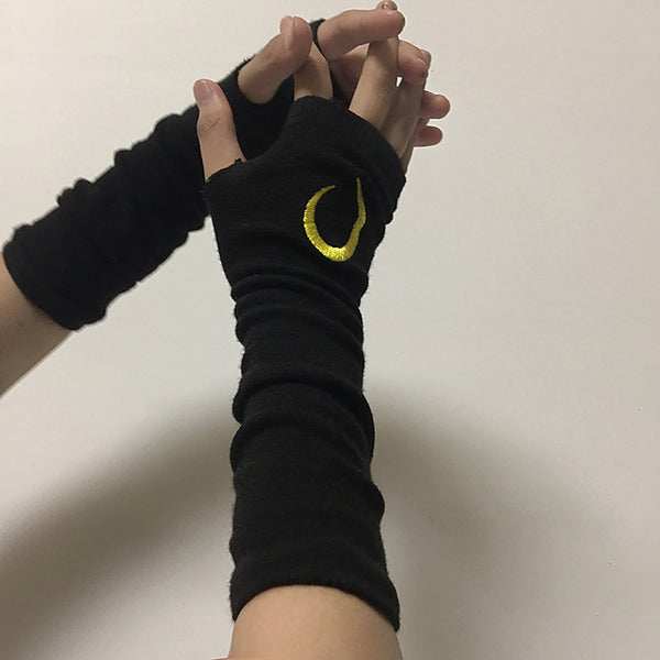Dark ninja cos gloves yc23377