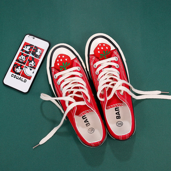 Lolita strawberry canvas shoes yc21114