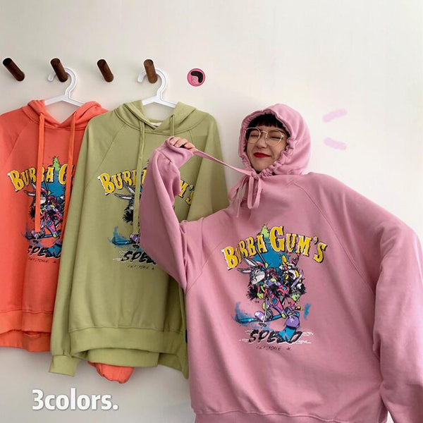 Harajuku Fashion Rabbit Print Hoodie Sweatshirt yc23464
