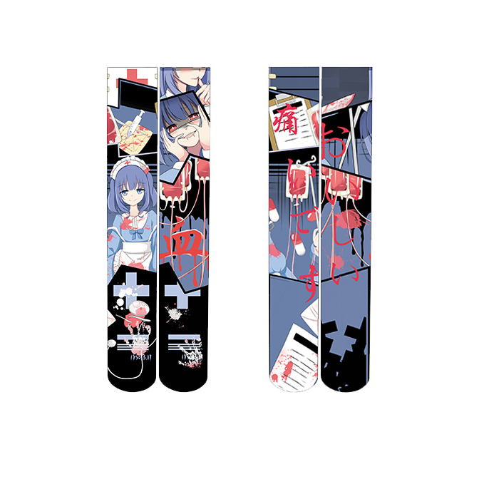 Cartoon printed knee socks YC21915
