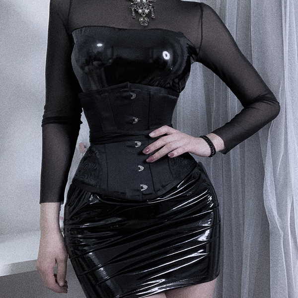 Sexy leather dress uniform yc22684