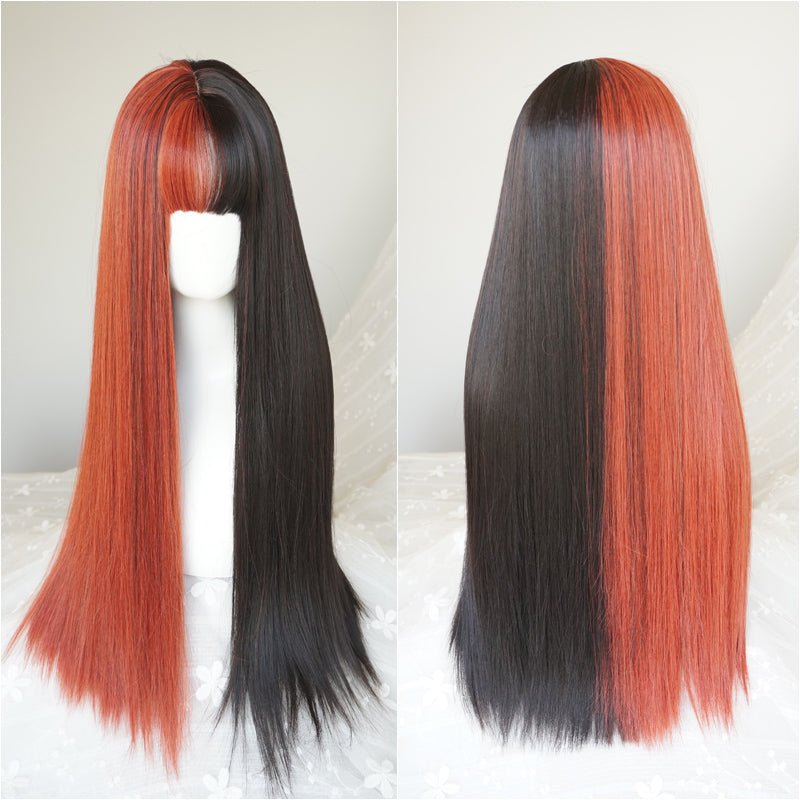 Lolita air bangs stitching wig     YC21462