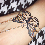 Conjoined Butterfly Bracelet Ring  YC21924