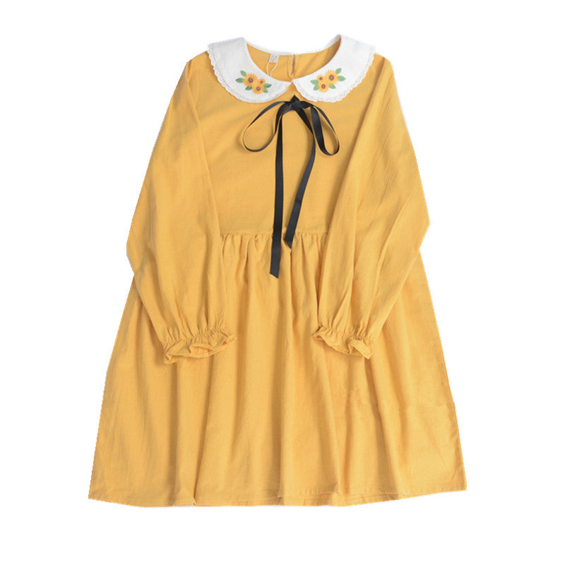Japanese sunflower dress yc20970