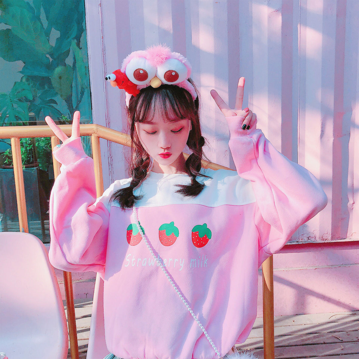 Cute Strawberry Sweatshirt yc21026