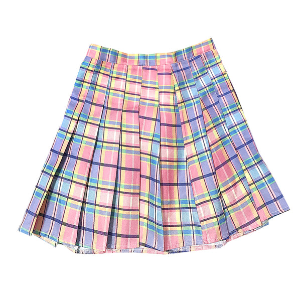 Lolita Gradient Pink Plaid Skirt      YC21397