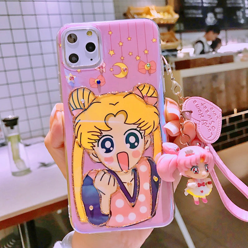 Sailor Moon Cos Phone Case + Pendant yc22416