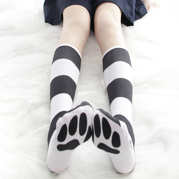 Cat striped socks YC21814