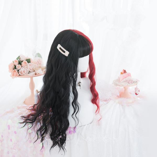 Harajuku Lolita red and black color matching wig  YC21391