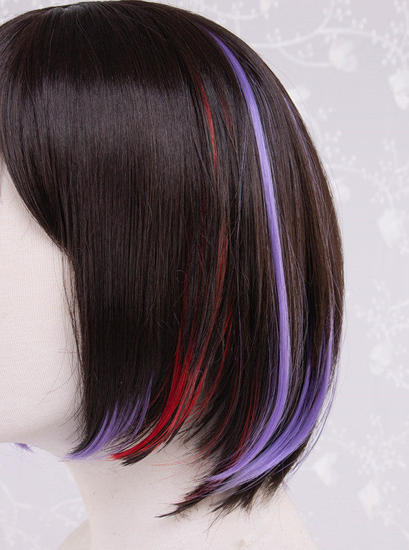 Lolita brown purple mixed color wig YC21541
