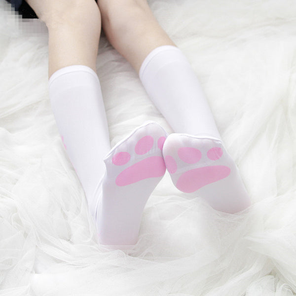Lolita cat claw print stockings (two pairs)  YC21569