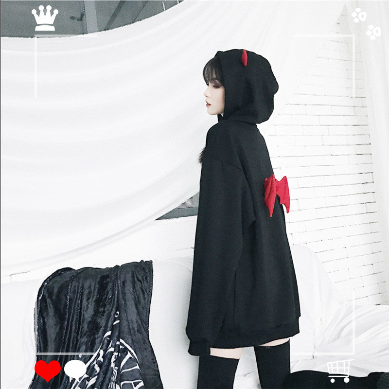Little devil plus velvet sweater YC22128