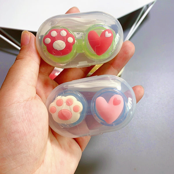 Cat Paw Love Contact Lens Case yc23776