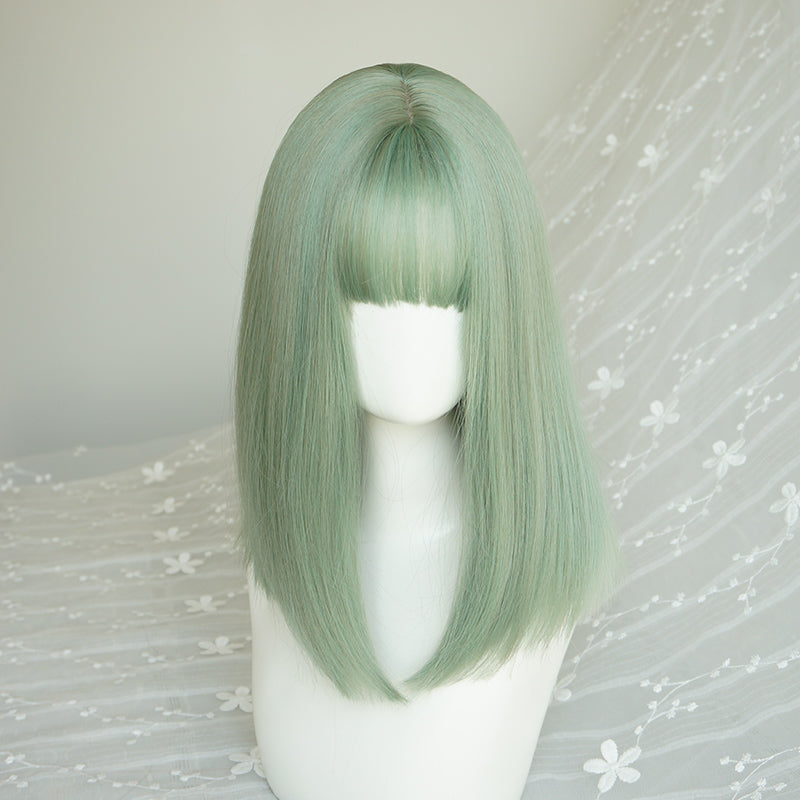 Lolita green air bangs wig   YC21448