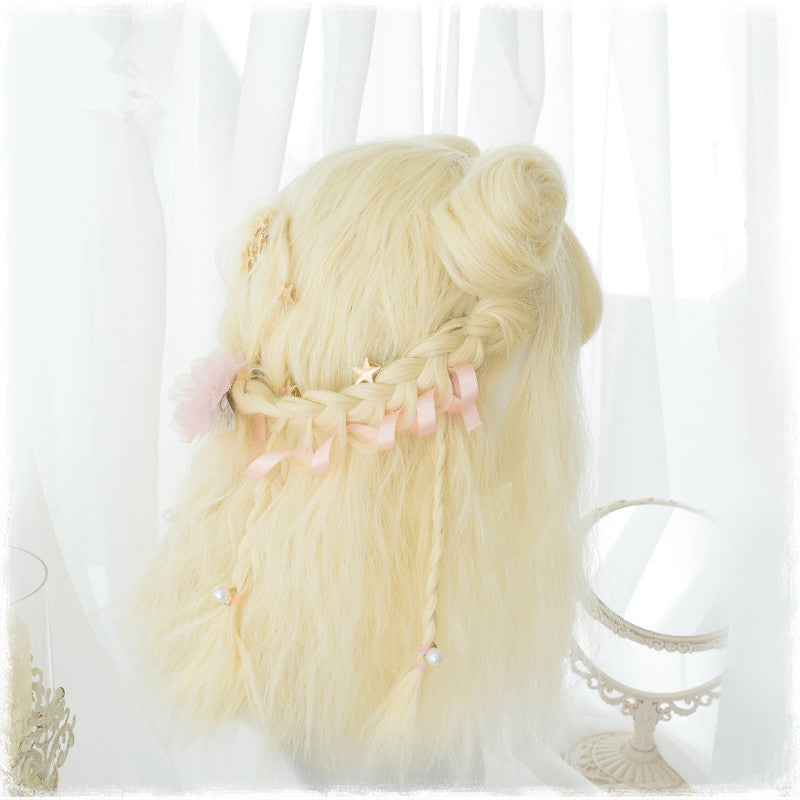 Harajuku Lolita Wig With Two cute Small Bun  YC21340