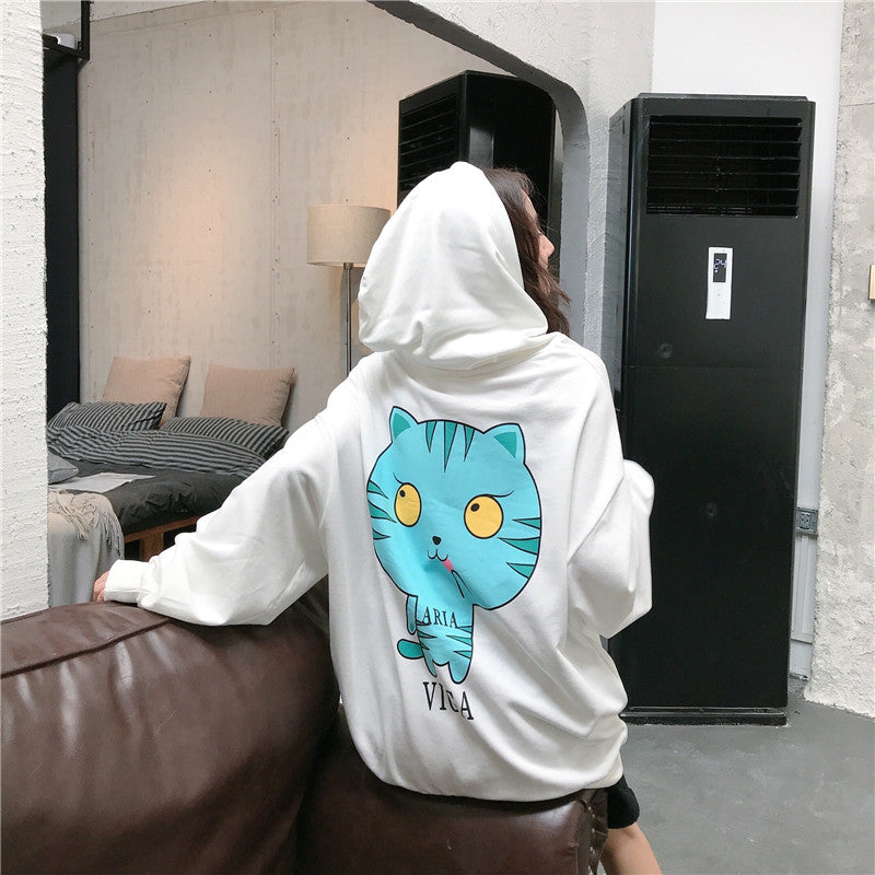 Cat print sweater YC22107
