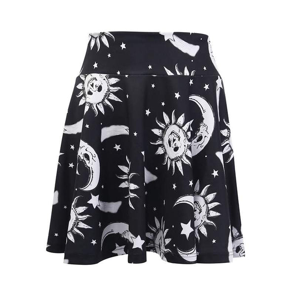 Hip-hop moon sun skirt yc22548