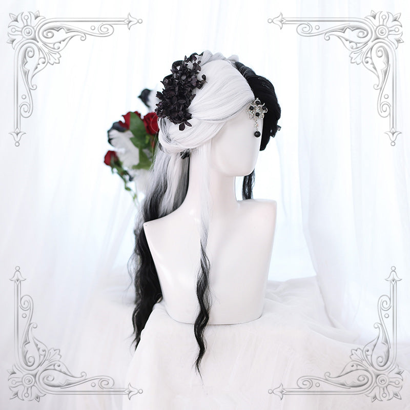Black and white wig yc22651