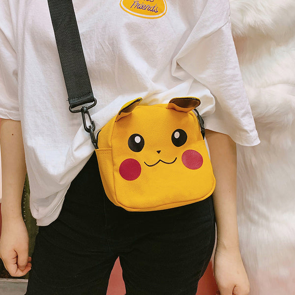 pikachu canvas crossbody bag yc22392