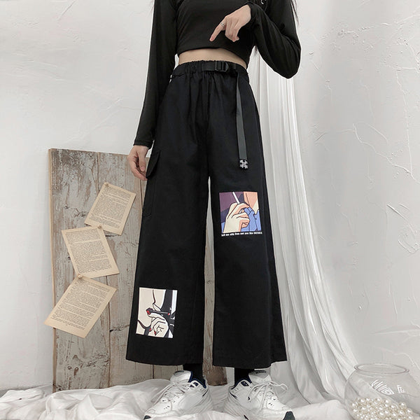 Ulzzang cartoon pants yc22316