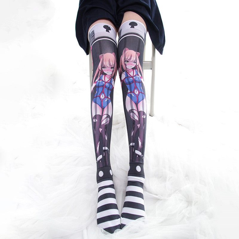 Diablo cos over knee socks YC21942