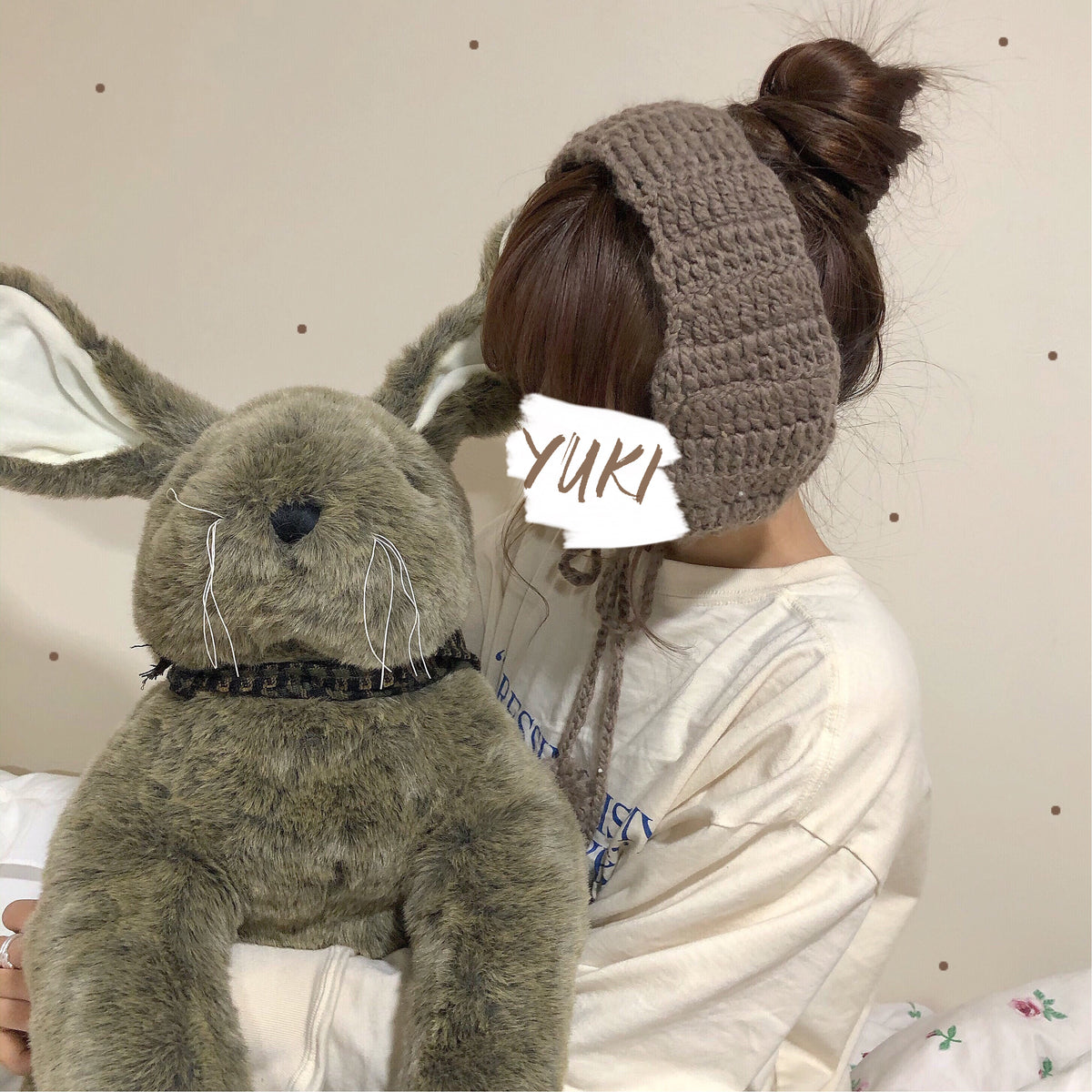 Cute knitted earmuffs yc22487