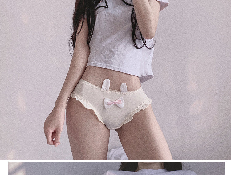 Cute rabbit ear underwear with tail yc22211