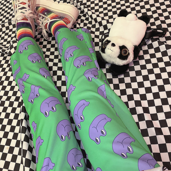 Harajuku cartoon pants yc22582