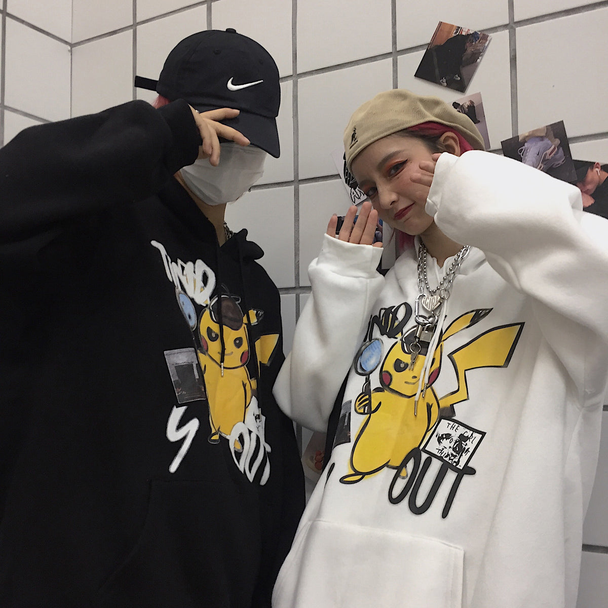 Pikachu cartoon hooded sweater yc22343
