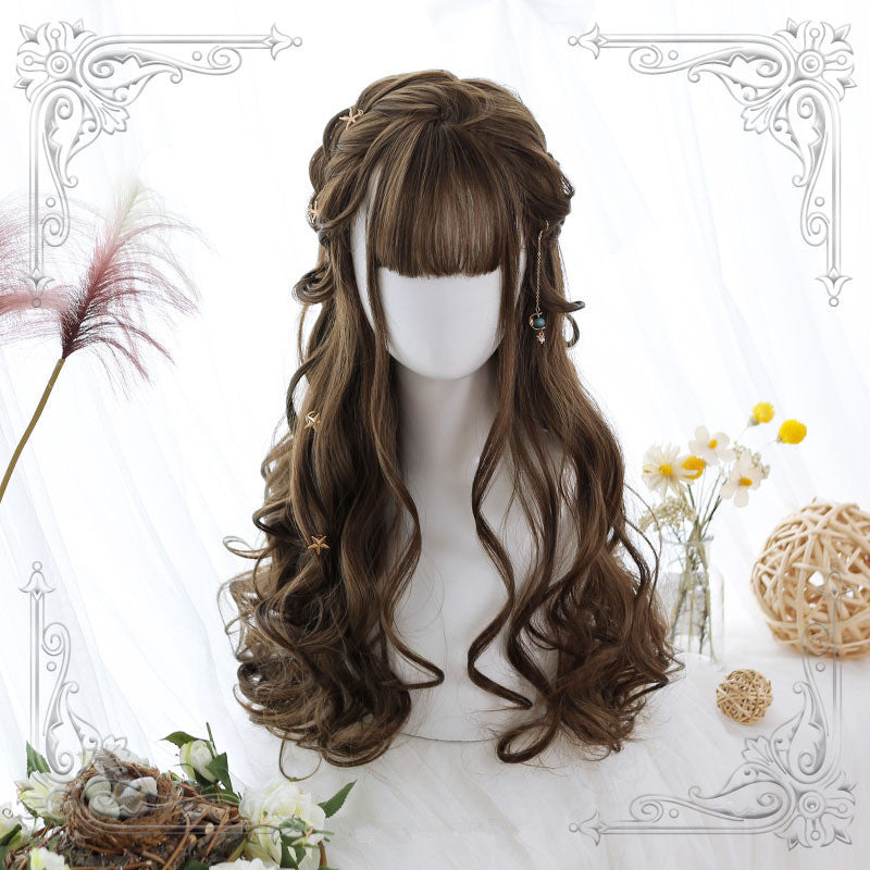 Lolita air bangs long roll wig  YC21301