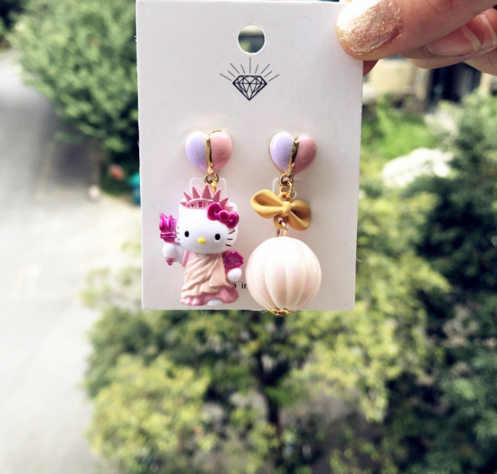 925 Silver Hello Kitty Earrings YC22047