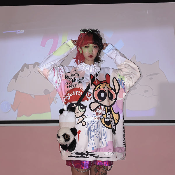 Japanese Harajuku Cartoon Top yc22248