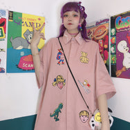 Embroidered cartoon shirt YC21801