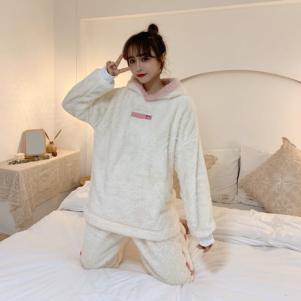 anibiu hooded pajama set yc40117