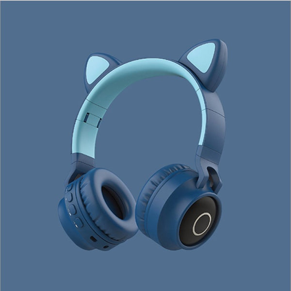 Cute cat ear wireless bluetooth headset yc22750
