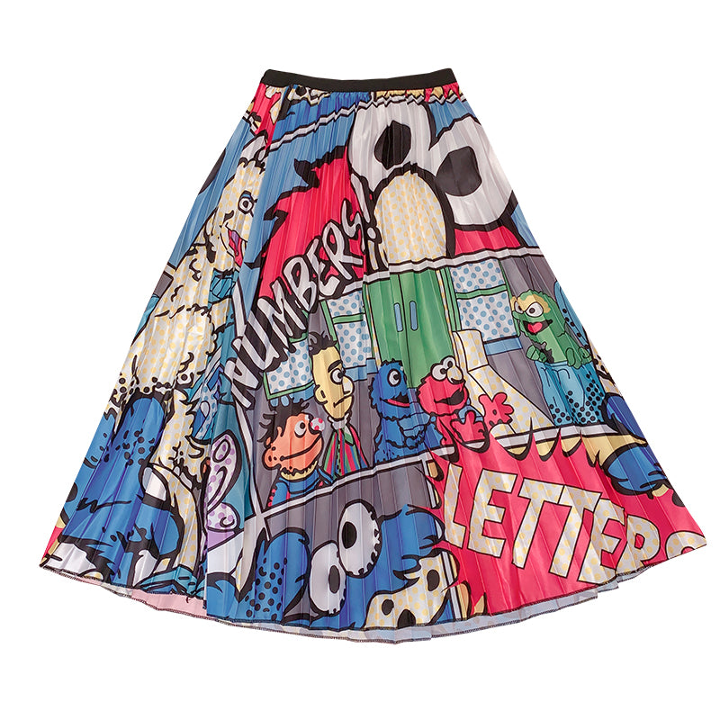 Harajuku Cartoon Pleated Skirt YC21772