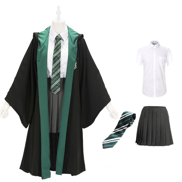 Harry Potter Slytherin School Uniform Cosplay Costume Set YC23626