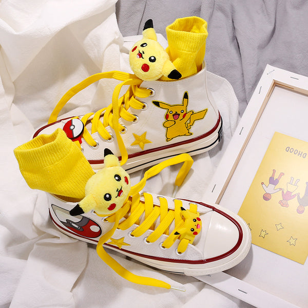 Pikachu cos hand painted shoes YC21941