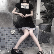 Lolita lace black dress  YC21718