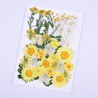 Dry flower face corner stickers YC21713