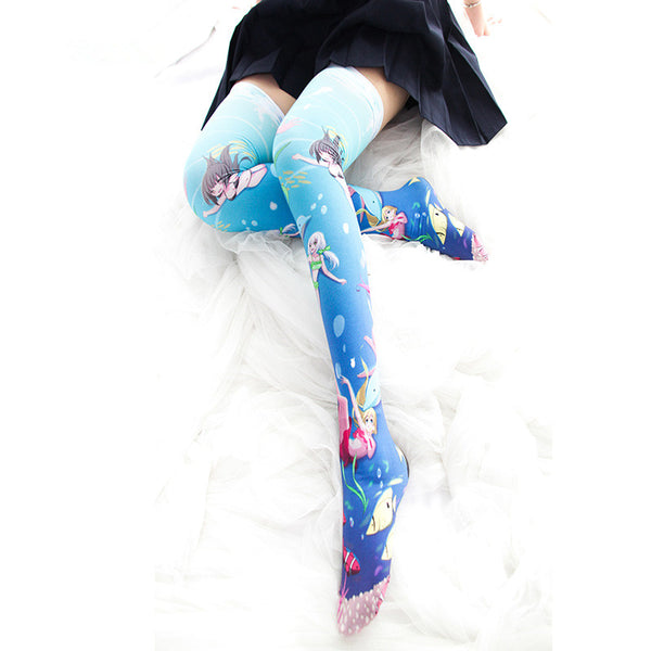 Mermaid over knee socks  YC21964