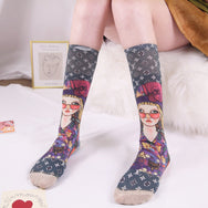 3D painted socks(one pair) YC21640
