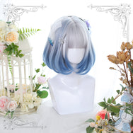 Lolita Grey Blue Wig yc22657