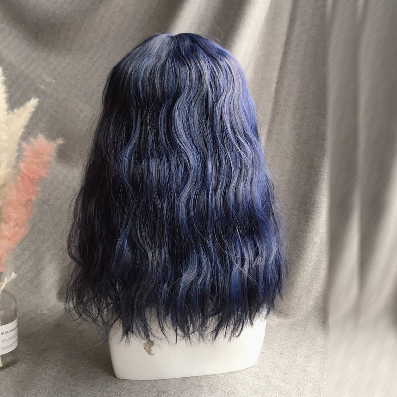 Lolita black and blue mixed color wig YC21567