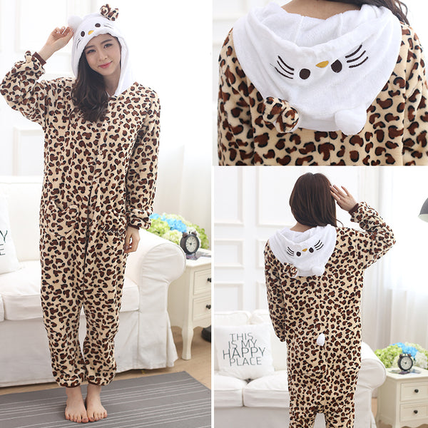 Cheetah one-piece pajamas YC22090
