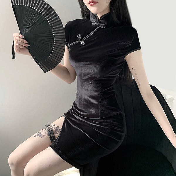 Chinese cheongsam dress yc23755