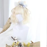Milky White Air Bangs Wig YV4004